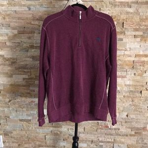 Tommy Bahama 1/4 Zip Burgundy Pullover Sweater